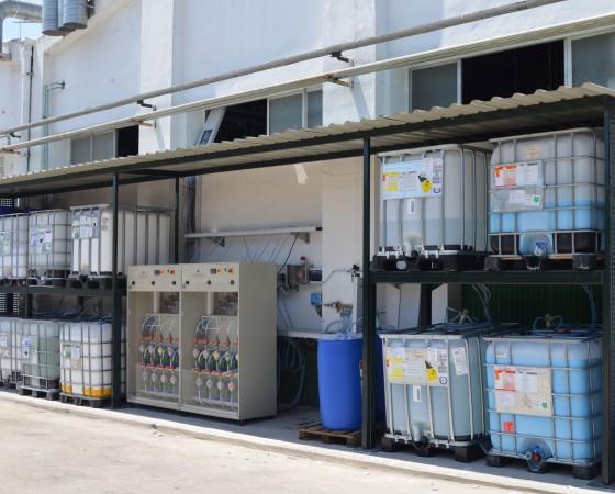 Planta de almacenaje y dosificación de productos